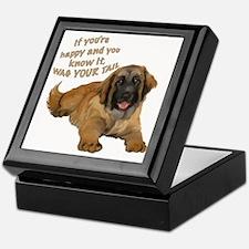 leonberger puppy wag Keepsake Box