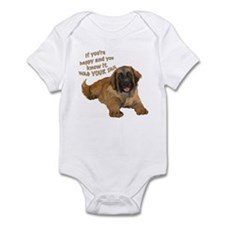 leonberger puppy wag Infant Bodysuit