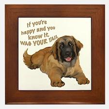 leonberger puppy wag Framed Tile