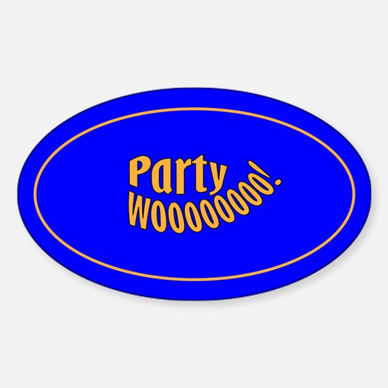 Party Woooo! Oval Decal
