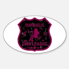 Yarnaholic Diva League Oval Decal