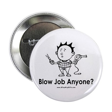 "Hair Blow 2.25"" Button (10 pack)"