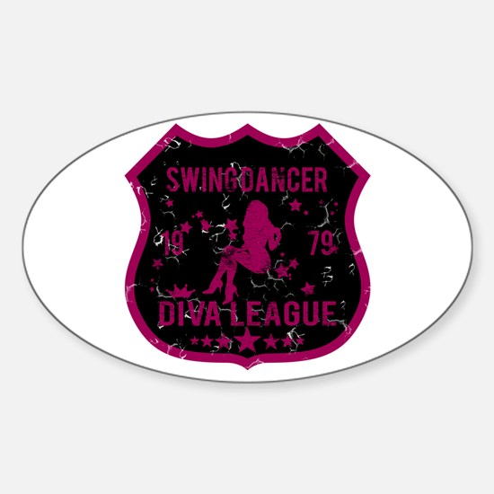 Swing Dancer Diva League Oval Decal