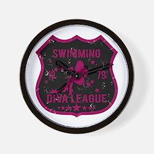 Swimming Diva League Wall Clock