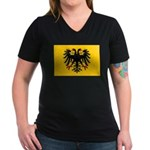 Holy Roman Empire Flag Women's V-Neck Dark T-Shirt