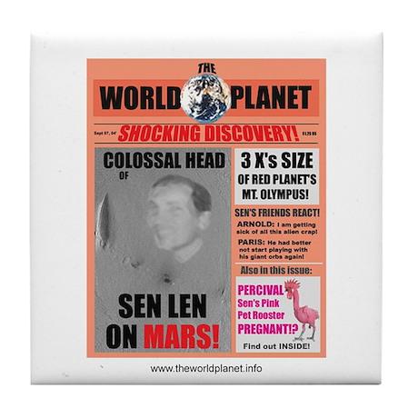 Sen on Mars Ceramic Coaster