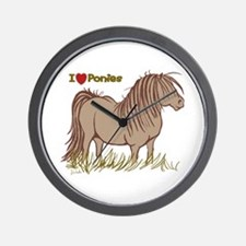 I Love Ponies Wall Clock