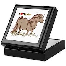 I Love Ponies Keepsake Box