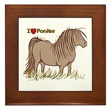 I Love Ponies Framed Tile