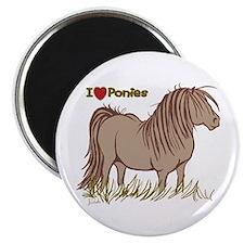 I Love Ponies Magnet