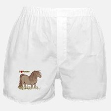 I Love Ponies Boxer Shorts