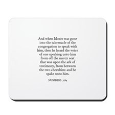 NUMBERS  7:89 Mousepad