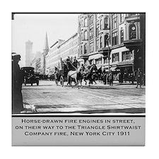 Vintage Photo of NYC Fire Brigade 1911 Tile Coaste