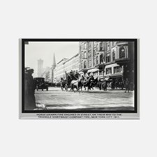 Vintage Photo of NYC Fire Brigade 1911 Rectangle M
