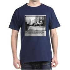 Vintage Photo of NYC Fire Brigade 1911 T-Shirt