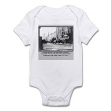 Vintage Photo of NYC Fire Brigade 1911 Infant Body