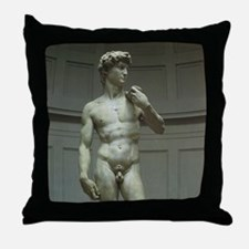 Statue of David by Michelangelo Throw Pillow