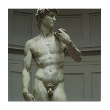 Statue of David by Michelangelo Tile Coaster