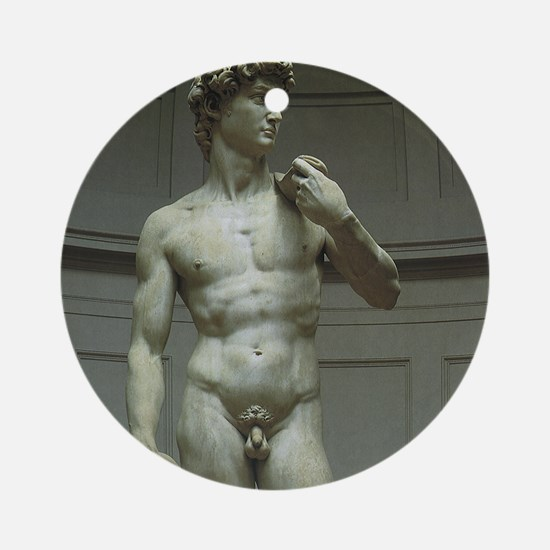 Statue of David by Michelangelo Ornament (Round)