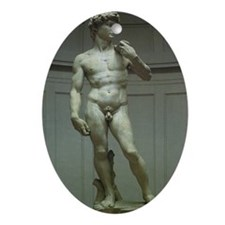 Statue of David by Michelangelo Ornament (Oval)