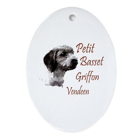Petit Basset Griffon Vendeen Oval Ornament
