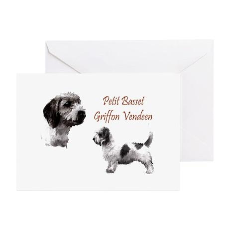 Petit Basset Griffon Vendeen Greeting Cards (Pk of