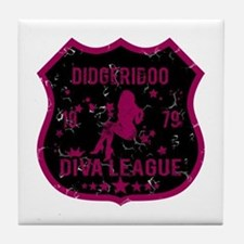Didgeridoo Diva League Tile Coaster
