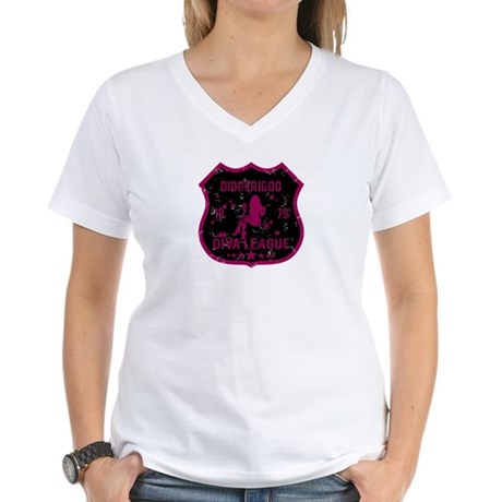 Didgeridoo Diva League Women's V-Neck T-Shirt