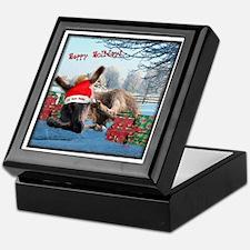 Lil Santa Donkey Keepsake Box