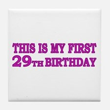 29th Birthday Tile Coaster