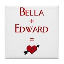 Cute Twilight heart Tile Coaster