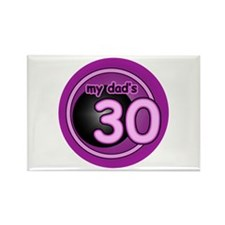 Girl's Dad is 40 Rectangle Magnet