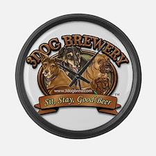 3 Dog Brewery Large Wall Clock