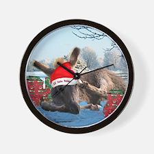 Lil Santa Donkey Wall Clock