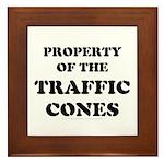 Traffic Cones Property. Framed Tile