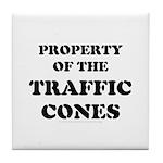 Traffic Cones Property. Tile Coaster