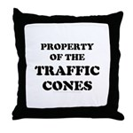 Traffic Cones Property. Throw Pillow