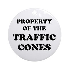 Traffic Cones Property. Ornament (Round)