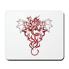Red Tribal Dragon Mousepad