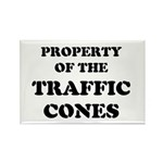 Traffic Cones Property. Rectangle Magnet