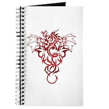 Red Tribal Dragon Journal