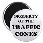 Traffic Cones Property. Magnet