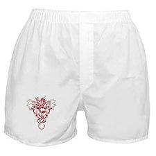 Red Tribal Dragon Boxer Shorts