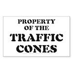 Traffic Cones Property. Rectangle Sticker