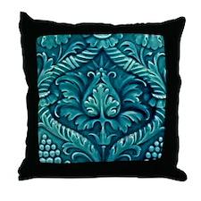 Art Nouveau Wall Tile Big 18x18 Throw Pillow
