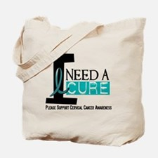 I Need A Cure 1 Cervical Cancer Tote Bag