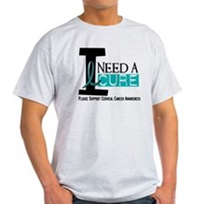 I Need A Cure 1 Cervical Cancer T-Shirt