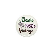 Vintage 1980's Birthday Mini Button (10 pack)