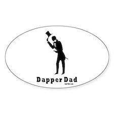 Dapper Dad Oval Decal