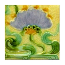 Art Nouveau Floral Wall Tile or Coaster